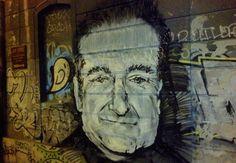 ღღ Unknown street artist, Robin Williams street art tribute, Belgrade, Serbia (photo ©WideWalls.ch)