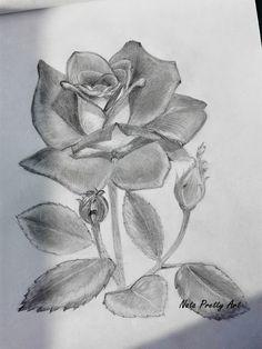 Чёрно-белый рисунок роза карандашом от руки Pretty Art, Abstract, Rose, Drawings, Illustration, Artwork, Painting, Pink, Work Of Art