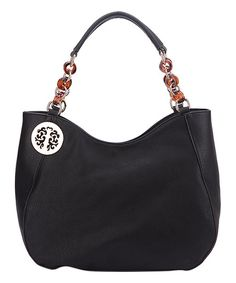 MKF Collection Black Multi-Ring Hobo   zulily