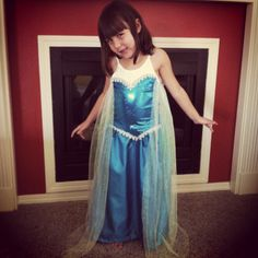 Homemade Elsa dress from Frozen...Sew sequin fabric bodice (add sweetheart neckline) and notions to a white tank top, and sew a ruched satin skirt on, and attach sheer flowing fabric for cape). Snowflake brooch on neckline.