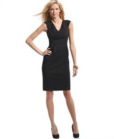 Anne Klein Dress, Cap Sleeve Pleated Sheath. Just bought for a special occasion.