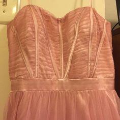 PRICE UNTIL APRIL: Pink prom dress! Worn only once Beautiful corset back Von Maur Dresses