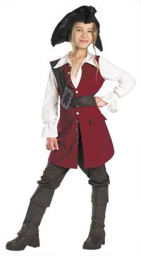 Click Image Above To Purchase: Deluxe Girls Elizabeth Pirate Costume - Pirates Of The Caribbean Costumes