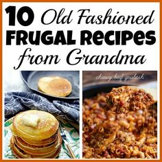 If you want to save money then you should try to reduce your grocery budget. To do this easily start eating some of these old fashioned frugal recipes! Frugal Recipes, Frugal Meals, Healthy Crockpot Recipes, Cooking Recipes, Grilling Recipes, Drink Recipes, Cheap Easy Meals, Inexpensive Meals, Retro Recipes