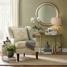 Chair - yes; demilune table style (not the table) and mirror - yes