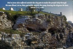 photos of golgotha hill | On a hill called the skull there they crucified him along with ...