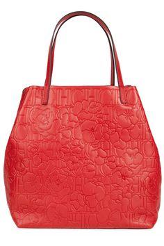 51bed0ad16c CH Carolina Herrera red embossed Matryoshka bag,  830. Carteras Carolina  Herrera, Bolsos Carolina