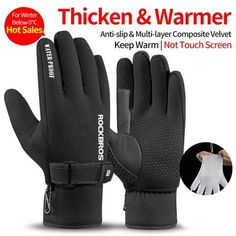 Perforated  Pu Anti-skid alloy Motorcycle Gloves Skiing Thermal Waterproof
