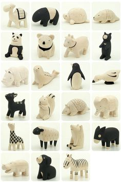 Wooden Animals made in Japan