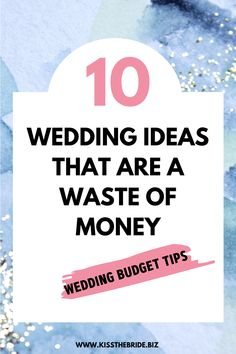 10 Wedding Ideas that are just a waste of money without any real benefit to the wedding. The guests are not going to miss this. Wedding Wishlist, Wedding To Do List, Wedding Costs, Wedding Advice, Plan Your Wedding, Wedding Ideas, Wedding Planning On A Budget, Budget Wedding, Bridesmaid Checklist