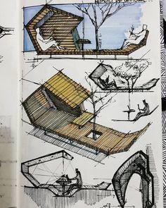 """4,513 Likes, 24 Comments - Arley Leal Mendoza (@arley.arch) on Instagram: """"Bocetos mobiliario urbano #sketchbook #sketch #sketchy #sketches #architecture #architect #design…"""""""