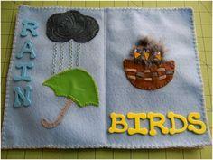 Art Threads: Monday Project - Spring Felt Texture Book