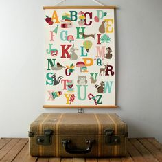 An awsome #alphabet #poster in dutch, all the letters of the alphabet with cute little illustrations!