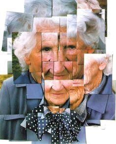 la madre de David Hockney fotografía fractal
