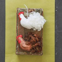 Glitter and Feather Rooster Ornament | Meyer Hatchery