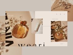 Weari — Landing Page designed by Sara Silva for willbe collective. Connect with them on Dribbble; the global community for designers and creative professionals. Website Design Inspiration, Layout Inspiration, Graphic Design Inspiration, Layout Design, Web Layout, Web Design Trends, Design Web, Flat Design, Website Layout