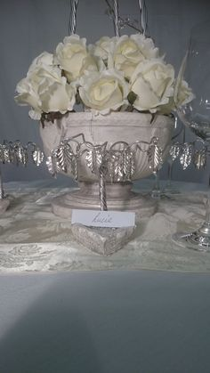 Name Place Setting to hire or Wedding Favour to purchase. Totally Hand crafted including the base, set with Swarovski Crystals. Branches hung with Silver Plated Leaves. info@crystaltreesbydesign.co.uk