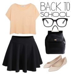 """#backtoschool"" by kate-rattigan ❤ liked on Polyvore featuring Dolce&Gabbana, Forever 21, Elizabeth and James, Topshop and BackToSchool"