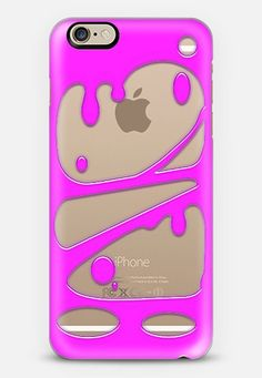 Slimey Pink Transparent Case @Casetify #iphone #case #transparent #slime #slimey #3d #cool