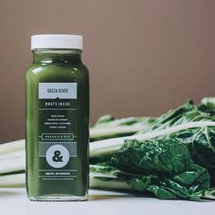 Our most popular juice is the Green River. Chockfull of energizing greens it's guaranteed to lift your spirits. Organic & cold-pressed. #greenjuice #coldpress #organic