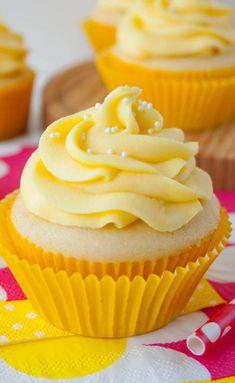Tropical Mango Vanilla Cupcakes