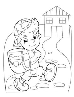 Boy Coloring Pages for Kids - Boy Coloring Pages for Kids , Anime Girl and Boy Drawing at Getdrawings School Coloring Pages, Cartoon Coloring Pages, Colouring Pages, Coloring Books, Art Drawings For Kids, Drawing For Kids, Art For Kids, Colorful Drawings, Boy Coloring