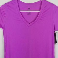 e713ab2873 C9 Champion V Neck Sz XS Tech Tee Aurora Purple Fitness Workout Athletic  T-Shirt  C9byChampion  AthleticTops