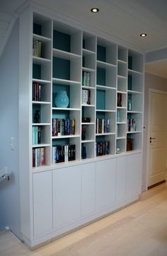 Designermade specialises in creating one-of-a-kind bookcases in a variety of sizes, styles and materials . We can create a great combination of shelves and cupboards to highlight your collection. Office Shelf, Bergen, Lodges, Norway, Shelves, Living Room, Bedroom, Furniture, Bookcases