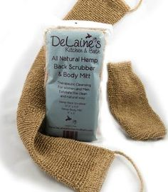 LOVE this scrubber!! It's organic too :) #DeLainesKitchenAndBath   http://www.delaineskitchenandbath.com/hemp-body-scrubber.html