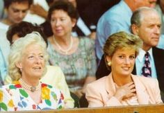 Mrs Shand Kydd and Princess Diana at wimbledon