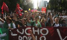 Mexico on the brink: thousands to protest over widespread corruption and student massacre   Violence and breakdown of law and order threaten to destabilise Mexico after mass murder of students and scandal over presidential home. Nov. 2014.