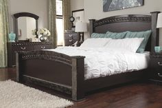 Traditional King Poster Bed With Faux Marble Trim Signature inside proportions 3600 X 2400 Marble King Bedroom Set - Get the mattress from the exact same store so it's going […] Master Bedroom Set, King Size Bedroom Sets, Bedroom Bed Design, Bedroom Decor, Bedroom Ideas, Nautical Bedroom, Furniture Sets Design, Bedroom Furniture Sets, Dark Furniture
