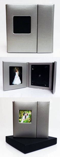 Wedding Story DVD/CD Case (Set of 2), Silver, Overlapping, Holds 1 Disc/2 photos