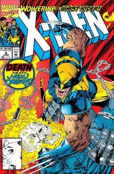 X-Men June 1992 Issue - Marvel Comics pencils by Jim Lee, inks by Jim Lee and Art Thibert. Marvel Comics, Hq Marvel, Marvel Comic Books, Comic Book Heroes, Comic Books Art, Comic Art, Drawing Cartoon Characters, Comic Book Characters, Book Cover Art