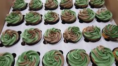 Camouflage Cupcakes, Homemade Cakes, How To Make Cake, Desserts, Food, Homemade Muffins, Postres, Deserts, Hoods