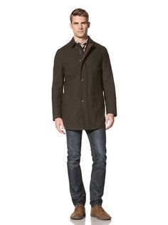 79% OFF Hickey Freeman Sportswear Men\'s  Traditional Car Coat (Olive)