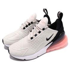 Nike Wmns Air Max 270 SE Light Bone Black Pink Women Running Shoes  AR0499-002 2e023774aa3