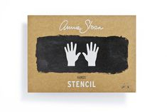 The Hands Stencil from the Annie Sloan Stencil Collection