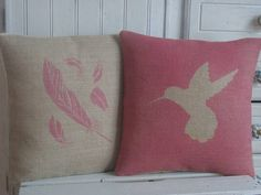 Our pretty pink hummingbird cushion is hand printed in the UK. Whilst this cushion looks beautiful enough alone, it makes a fun quirky addition to any room when