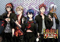 Anime Food Wars: Shokugeki No Soma Ryō Kurokiba Takumi Aldini Megumi Tadokoro Sōma Yukihira Akira Hayama Duvarkağıdı