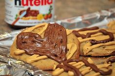 peanut butter and nutella cookies.