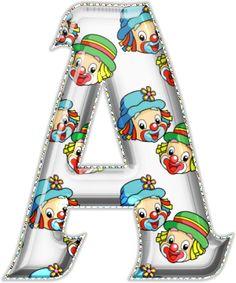 Alfabeto Decorativo: Alfabeto - Patati e Patata - PNG - Maiúsculas - DO...