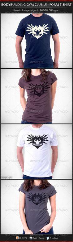 Bodybuilding Gym Club Uniform T-Shirt Template V3 - DOWNLOAD NOW