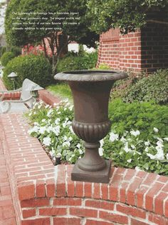 Lightweight Outdoor Planters: really into urns - ceramic or resin.  BULBS!!!