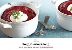 Delish winter soups, from our Dec/Jan issue!