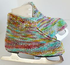 skate, boot, covers, warmers, skate covers, skate warmers, handmade, knit, knitting, knitted, pattern, free, diy, wool, yarn, girl's, childr...