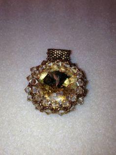Swavorski Rivoli Pendant Necklace Handmade by JewelrywithPassion, $85.00