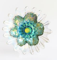 """Monet at Giverney"" -- another blue Ram Bloom. SOLD. Other styles available at: www.etsy.com/shop/theblueram. Please stop by! #glassflower"