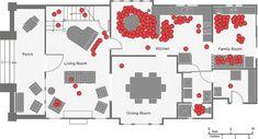 Espace utilisé dans une maison du 21 siècle