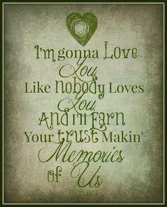 """Keith Urban Lyric Art Print """"Making memories of us"""" 8x10 Song Lyric Art Print…"""